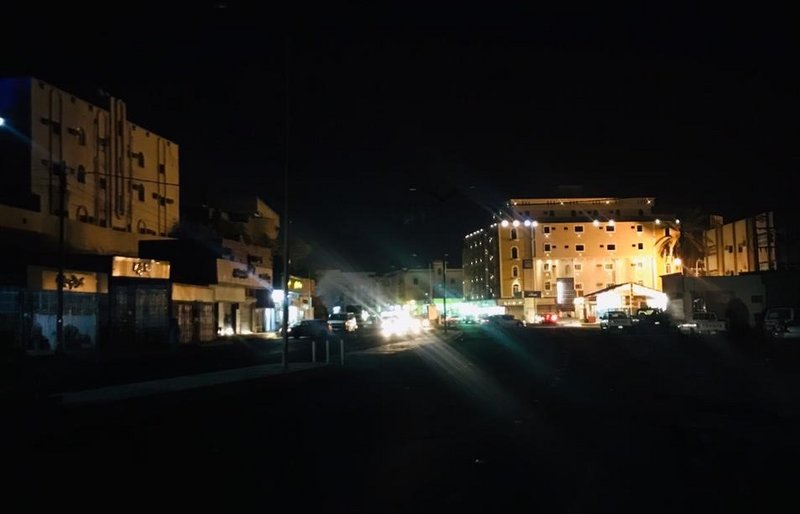 """""""أضم"""" تتفاعل مع ساعة الأرض وتطفئ شوارع وميادين ومرافق بلدية"""