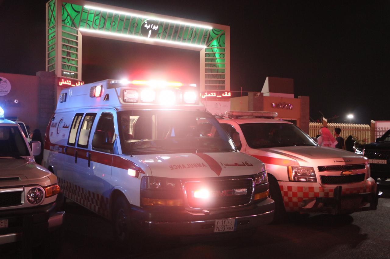الهلال الأحمر السعودي يواصل تقديم الخدمات الاسعافية لزوار مهرجان الورد 15