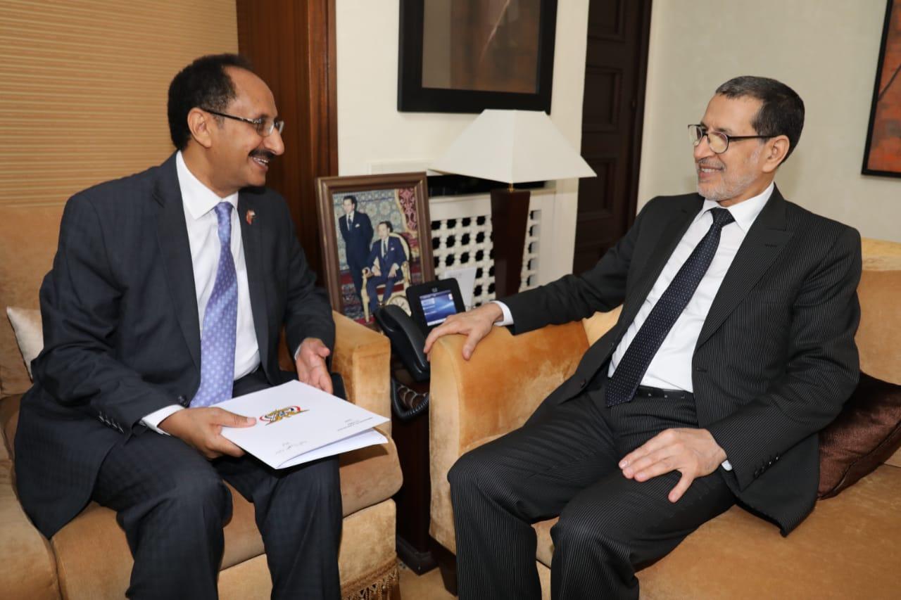 سفير اليمن في المغرب يلتقي رئيس الوزراء المغربي