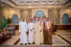 سمو أمير الجوف يستقبل مدير هيئة الرياضة ولاعب المنتخب صهيب