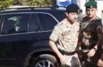 ولى العهد الأردنى يوقف موكبه لإنقاذ ضحايا حادث سير