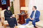 وزيرة التجارة والصناعة المصرى تلتقي بالرئيس التنفيذي للوحدة الفنية لاتفاقية اغادير