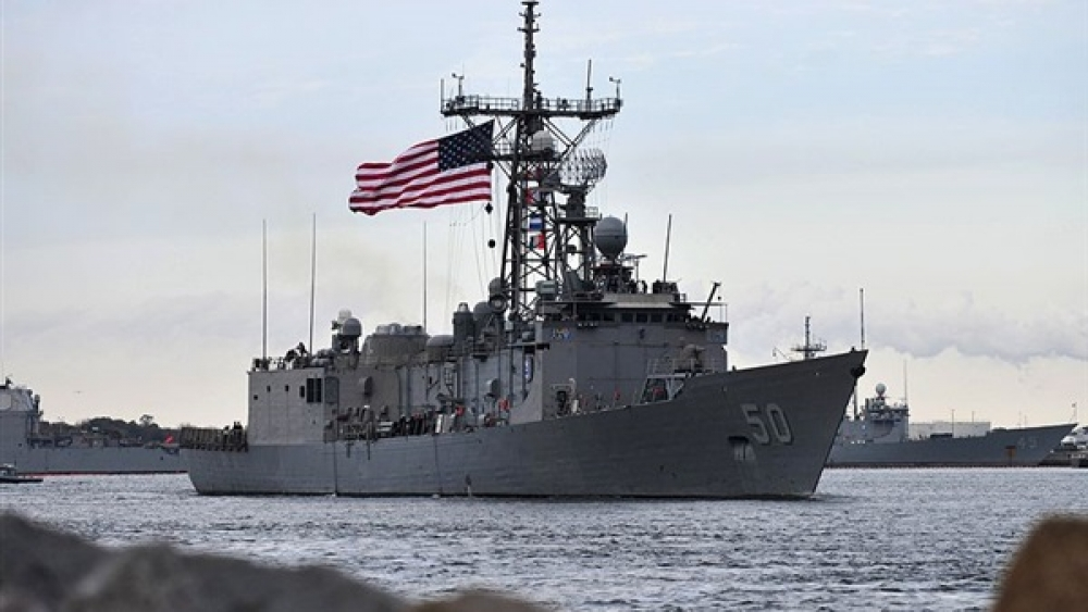 """"""" البحرية الأمريكية """" تصادر 150 صاروخًا إيرانيًّا كانت في طريقها للحوثيين"""