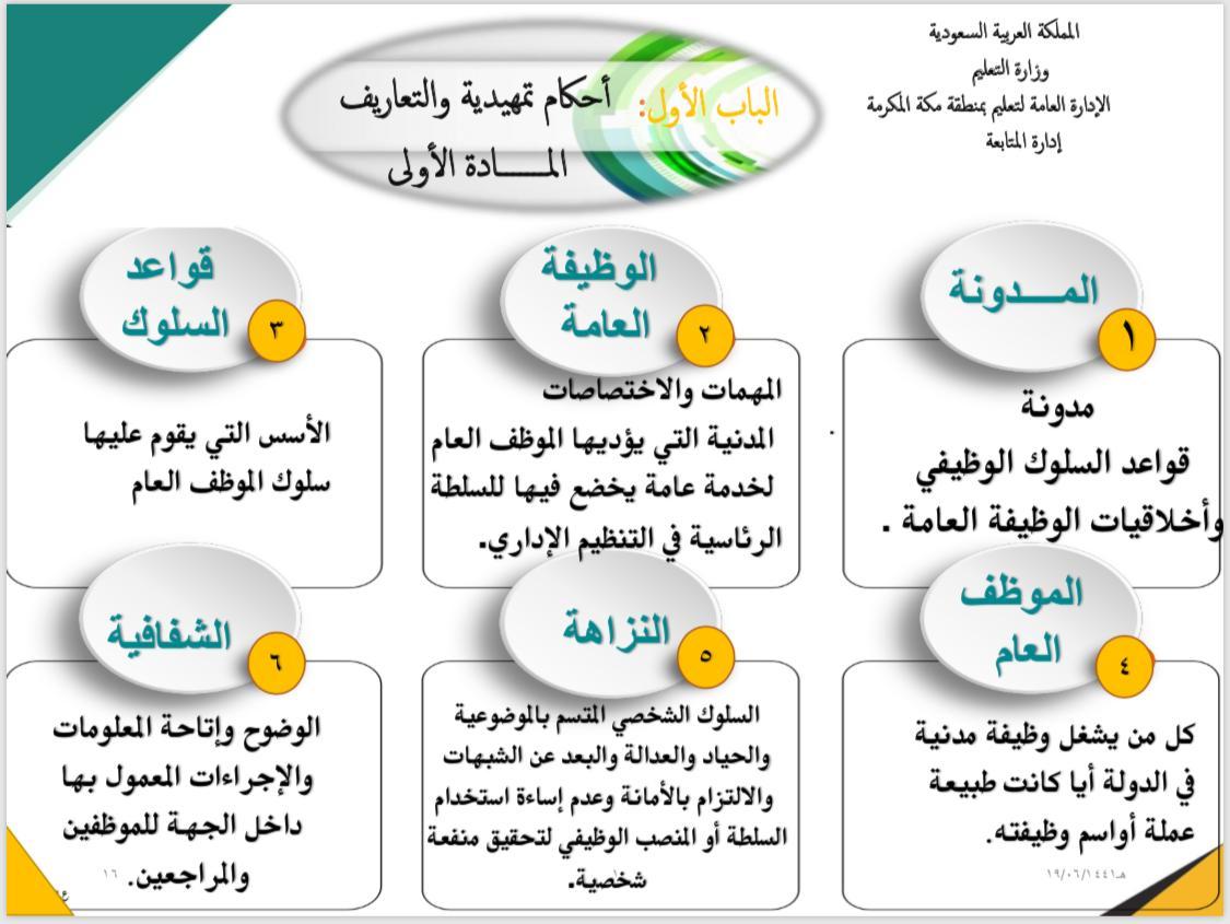 الموظف العام بين الواجب والمحظور لقاء تدريبي بمتابعة تعليم مكة