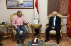 محافظ بورسعيد بمصر يستقبل وفد جهاز تنمية المشروعات الصغيرة