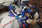 حرس الحدود يخلي بحارًا فلبينياً مصاباً في مياة البحر الأحمر