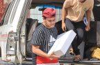 """""""بر الحشر"""" توزع 700 سلة غذائية للمتضررين من جائحة كورونا"""