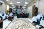 """مدير مكتب التعليم """"يستقبل رئيس وأعضاء مجلس إدارة نادي اليرموك الرياضي بأبوعريش"""