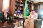 سمو أمير جازان يستقبل عضو الإفتاء ومدير فرع البحوث بالمنطقة