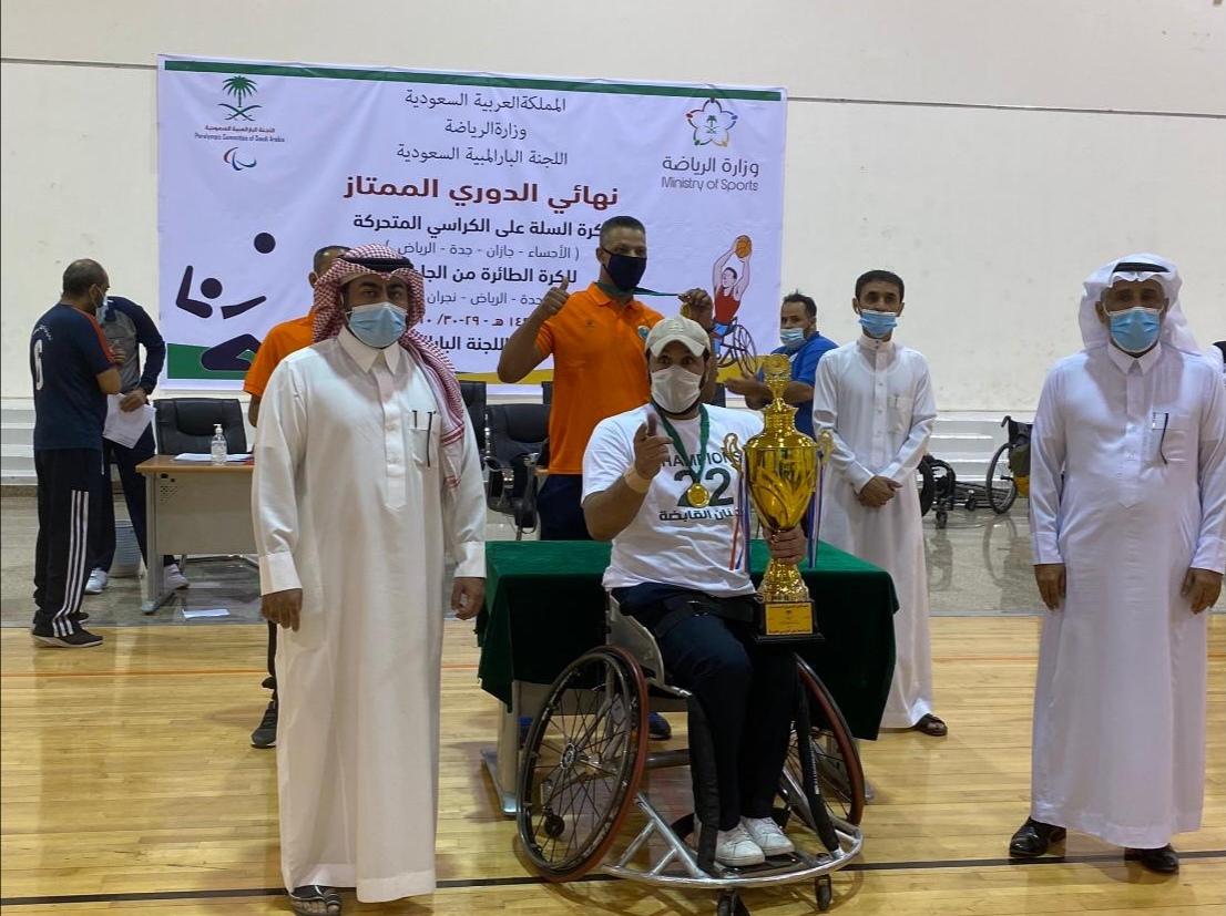 ناديا الرياض ومكة أبطالاً لممتاز السلة على الكراسي والطائرة من الجلوس