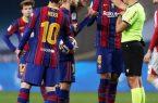 """رد فعل رسمي من برشلونة بعد إيقاف"""" ميسي""""."""