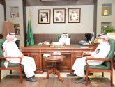 محافظ أبو عريش يجتمع بمدير عام خدمات المياه بجازان