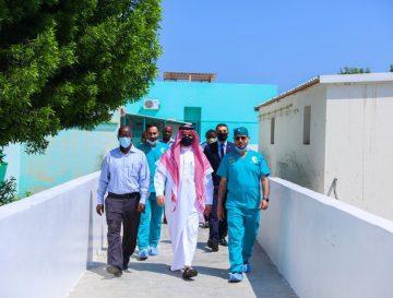 السفير السعودي بجيبوتي يزور مستشفى بيلتييه العام