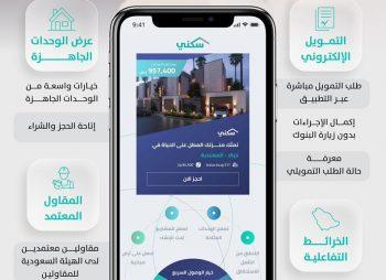 """تطبيق """"سكني"""" يطلق 4 خدمات إلكترونية لمستفيديه"""